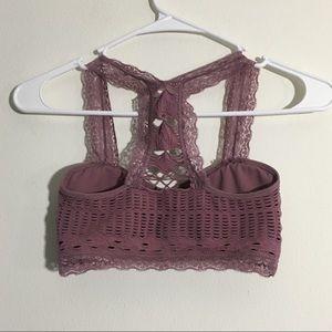 Aeropostale Intimates & Sleepwear - Mauve Stretchy Seamless Lacy Bralette